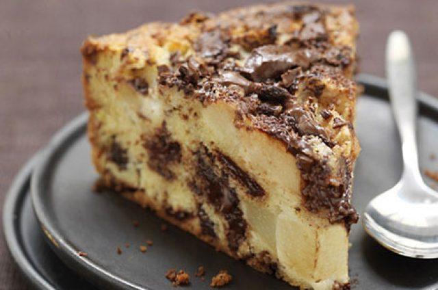 Clafoutis poire chocolat