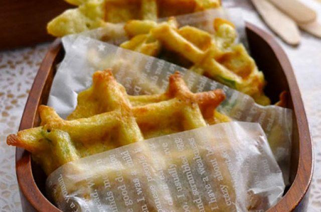 Gaufres de pomme de terre aux comté râpé