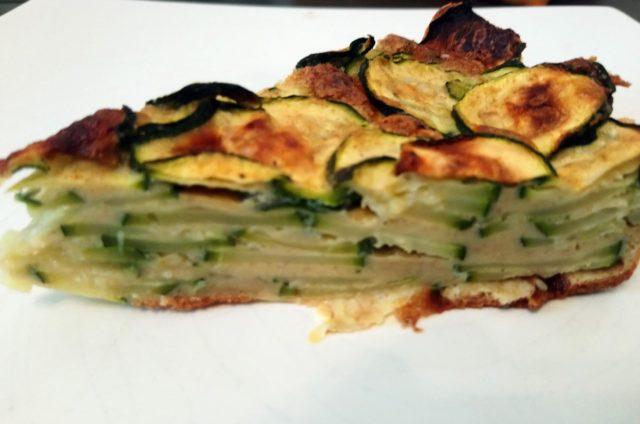 Gâteau invisible aux courgettes et parmesan (facultatif… on peut mettre du comté)