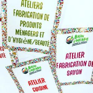 Atelier Fabrication de produits ménagers et d'hygiène / beauté – Juin 2019