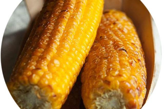 Maïs doux grillé au four