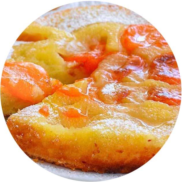 Gâteau renversé abricots-amandes