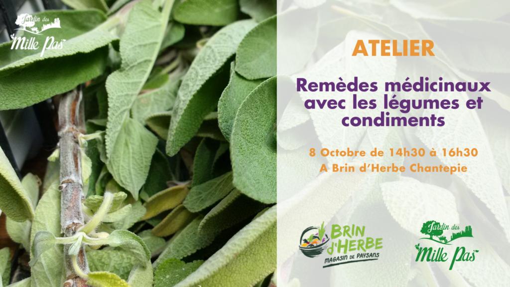– – – Atelier à Chantepie – – –   remèdes avec les légumes et condiments